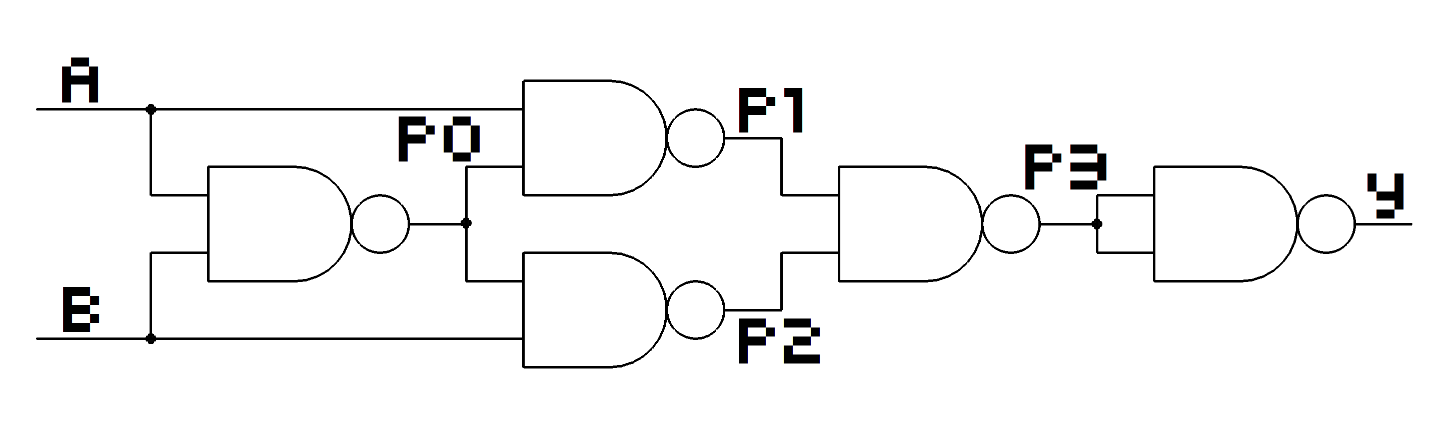 Logic Gates From Nand Theflyingkeyboard Diagram Of Gate Y P3 P1 P2 A P0 B